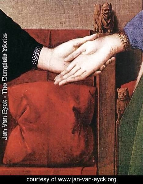 Jan Van Eyck - Portrait of Giovanni Arnolfini and his Wife (detail 4) 1434