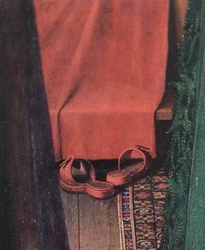 Jan Van Eyck - Portrait of Giovanni Arnolfini and his Wife (detail 8) 1434