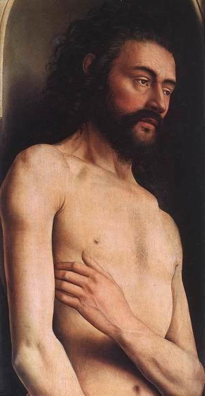 The Ghent Altarpiece- Adam (detail 2) 1425-29