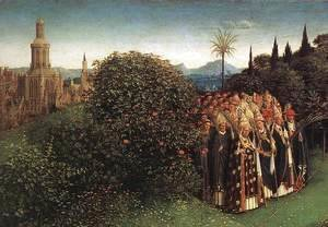 Jan Van Eyck - The Ghent Altarpiece- Adoration of the Lamb (detail 5) 1425-29