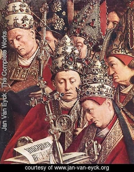 Jan Van Eyck - The Ghent Altarpiece- Adoration of the Lamb (detail 8) 1425-29