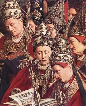 The Ghent Altarpiece- Adoration of the Lamb (detail 8) 1425-29