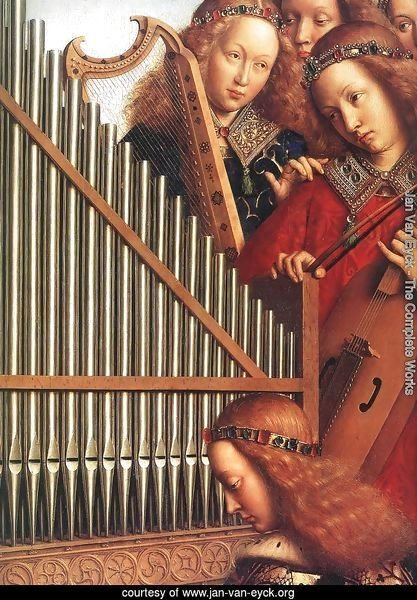 The Ghent Altarpiece- Angels Playing Music (detail 3) 1426-27