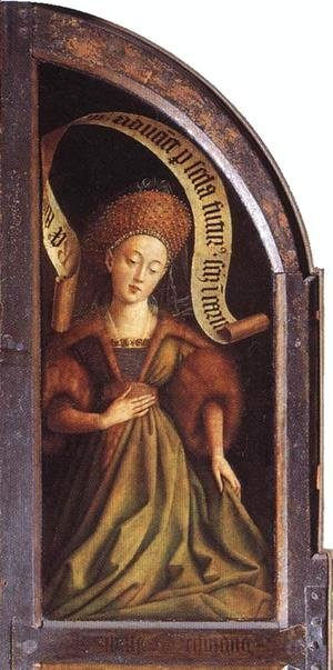 Jan Van Eyck - The Ghent Altarpiece- Cumaean Sibyl 1432