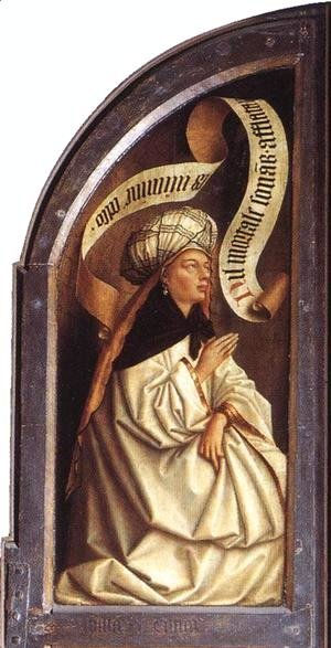 Jan Van Eyck - The Ghent Altarpiece- Erythraean Sibyl 1432