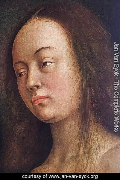Jan Van Eyck - The Ghent Altarpiece- Eve (detail 1) 1425-29