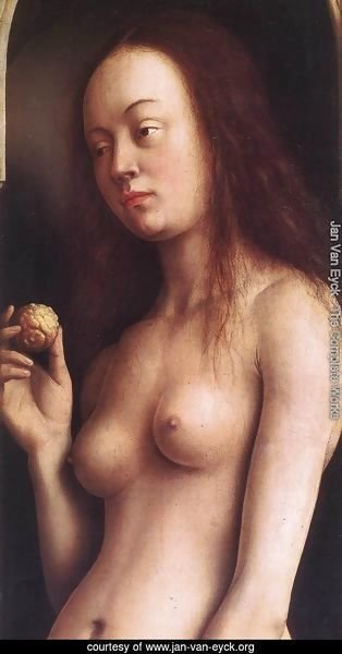 The Ghent Altarpiece- Eve (detail 2) 1425-29