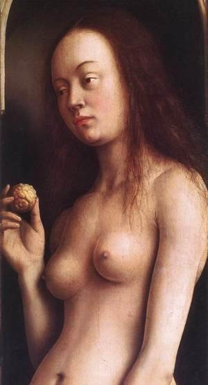 Jan Van Eyck - The Ghent Altarpiece- Eve (detail 2) 1425-29
