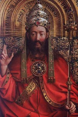 The Ghent Altarpiece- God Almighty (detail) 1426-27