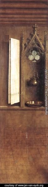The Ghent Altarpiece- Niche with Wash Basin 1432