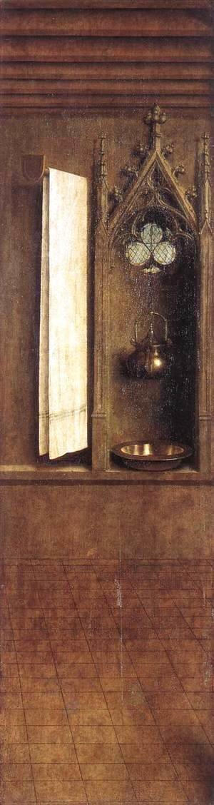 Jan Van Eyck - The Ghent Altarpiece- Niche with Wash Basin 1432