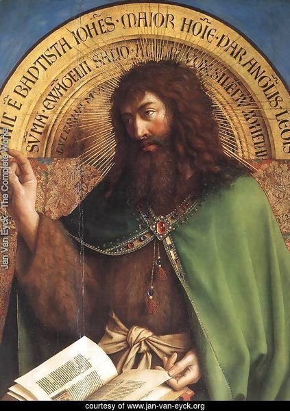 The Ghent Altarpiece- St John the Baptist (detail) 1425-29