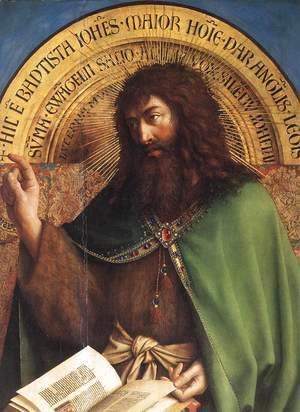 Jan Van Eyck - The Ghent Altarpiece- St John the Baptist (detail) 1425-29