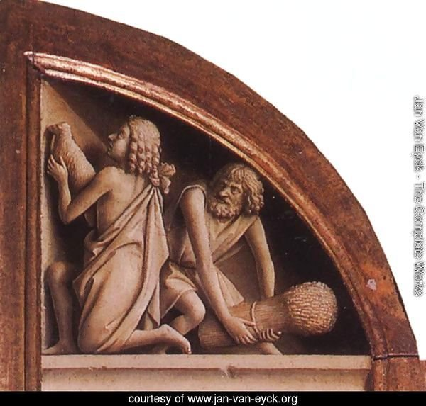 The Ghent Altarpiece- The Offering of Abel and Cain 1425-29