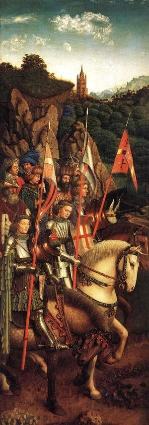 The Ghent Altarpiece- The Soldiers of Christ 1427-30