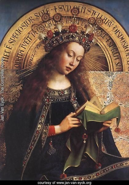 The Ghent Altarpiece- Virgin Mary (detail) 1426-29