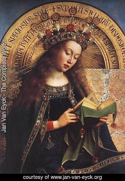 Jan Van Eyck - The Ghent Altarpiece- Virgin Mary (detail) 1426-29